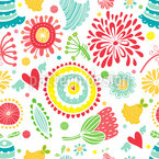 Floral Happyness Seamless Vector Pattern Design