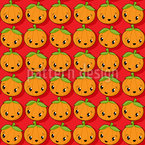 Kawaii Pumpkin Seamless Vector Pattern Design