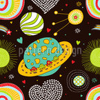 Space Journey Seamless Vector Pattern Design