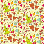 Bear Celebration Seamless Pattern