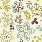 Blatt Und Blume Sind Vorboten Des Frühlings Nahtloses Vektormuster