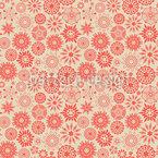 Floral Star Magic Seamless Vector Pattern Design