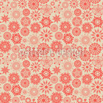Floraler Sternenzauber Nahtloses Vektormuster