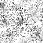 Dahlia Appear Seamless Vector Pattern Design