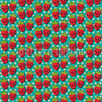 Kawaii Strawberry Repeating Pattern