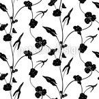Lass Die Blumen Ranken Nahtloses Vektormuster