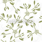 Mistletoes Seamless Vector Pattern Design