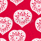 Russian Hearts Seamless Pattern
