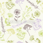 Healing Flowers Seamless Vector Pattern Design
