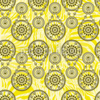 Mehndi Yellow Seamless Vector Pattern Design