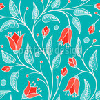 Bluebells Fantasy On Ice Vector Pattern