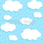 Wolken Und Tropfen Muster Design