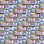 Mosaik Der Dritten Dimension Nahtloses Vektormuster