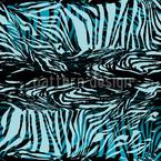 Zebrafell Blau Rapport