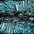 Zebrafur Blue Seamless Vector Pattern Design