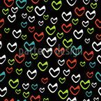 Herzen Steigen Auf Nahtloses Vektormuster