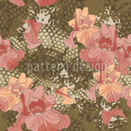 Snakes and Flowers Pattern Design