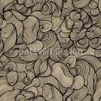 Das Haar Der Sirenen Nahtloses Vektormuster
