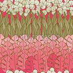 Muttis Blumenbeet Nahtloses Vektormuster