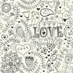 Valentinstag Im Schreibheft Nahtloses Vektormuster