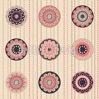 カフェフローラル シームレスなベクトルパターン設計