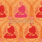 Buddha Seamless Vector Pattern Design