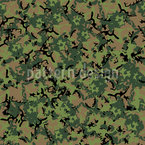 Forest Camouflage Seamless Vector Pattern Design