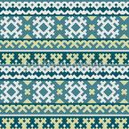 Der Pixel König Des Nordens Nahtloses Muster