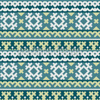 The Pixel King Of The North Seamless Pattern