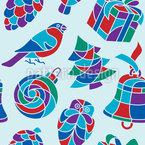 Christbaumfiguren Deco Nahtloses Vektor Muster