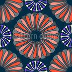 Elegância das Flores Design de padrão vetorial sem costura