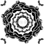 The Seal Of The Flower Seamless Vector Pattern Design