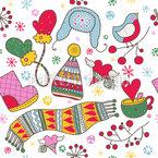Wir Lieben Den Kalten Winter Nahtloses Vektormuster
