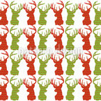 Deer Talk Seamless Vector Pattern Design