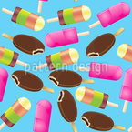 Ice Lollies Vector Pattern
