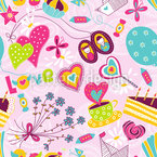 Birthday Dreams Seamless Vector Pattern Design