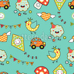 Come On Kids Seamless Vector Pattern Design