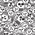 Come Sweet Skull Seamless Vector Pattern
