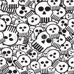 Komm Süsser Totenkopf Nahtloses Vektor Muster