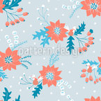 A Birds Winter Song Seamless Pattern