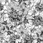 Blumen Rausch Nahtloses Vektor Muster