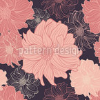 Delicate Dahlia Appear Seamless Vector Pattern Design