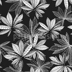 I Dreamed Of Chestnut Leaves Seamless Vector Pattern Design