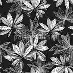 Ich Träumte Von Kastanienblättern Nahtloses Vektormuster