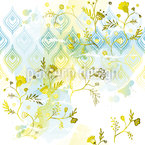 Vivid Oasis Seamless Vector Pattern Design