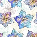Aquarell Hibiscus Nahtloses Vektormuster