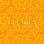 Flowers On My Summer Sari Seamless Vector Pattern Design
