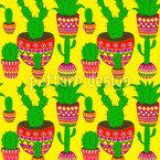 Kaktus Mexiko Nahtloses Muster