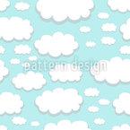 Wolken Über Springfield Nahtloses Vektor Muster