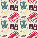 My Radio Seamless Vector Pattern Design